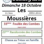La foulée des Combes, les Moussières (39), 18/10/2020